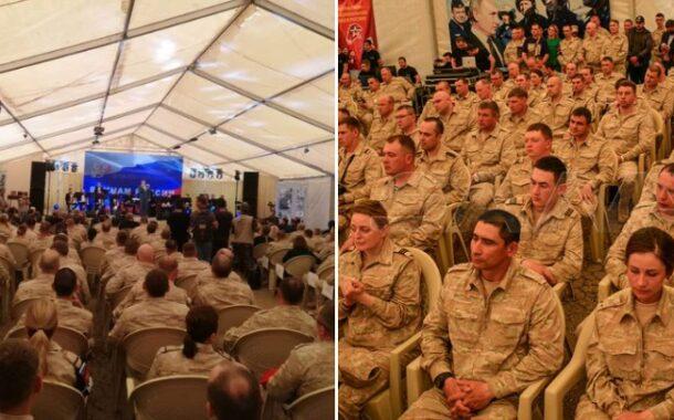 احتفال بذكرى استقلال سوريا في خيمة محتل موقف يثير موجة سخرية واستنكار